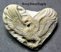 Items similar to 1 <b>Carved</b> Eagle Stone <b>Pendant</b> Bead, <b>Natural Stone</b> ...