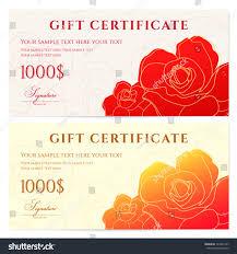 Gift Certificate Voucher Template Gift Certificate Voucher Template Flower Pattern Stock Vector 14