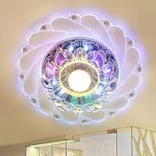 Giảm 47 %】 Mới Pha Lê Hiện Đại 5 Wát Nhiều Màu Sắc ĐÈN LED Ốp Trần Đèn  Phòng Khách Hiên Nhà Chiếu Sáng