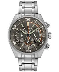 citizen eco drive watches macy s citizen eco drive men s chronograph titanium stainless steel bracelet watch 45mm ca4330 57h