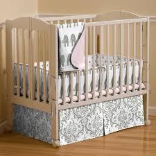 Pink and Gray Elephants Mini Crib Blanket | Carousel Designs & Pink and Gray Elephants Mini Crib Blanket Adamdwight.com