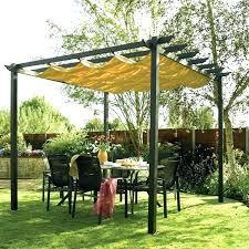 metal pergola with canopy garden metal pergola with retractable canopy