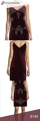 Romeo Juliet Couture Burgundy Velvet Slip Dress Size Large