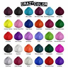 Details About Crazy Color Semi Permanent Hair Dye 100ml Full Range Same Day Dispatch