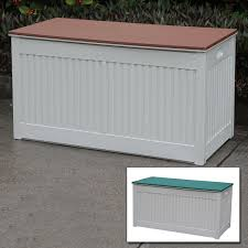 green outdoor garden storage box plastic utility chest cushion shed box 290l