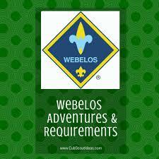 Webelos Attendance Chart Cub Scout Webelos Rank Requirements Cub Scout Ideas