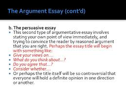 english language services ppt video online  the argument essay cont d