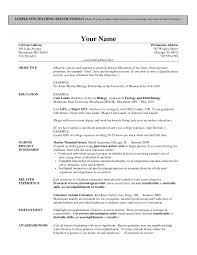 Resume Templates Biologycher Examples Resume For Teachers In