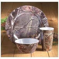 Camouflage Dishes Real Tree Dishes 12 Pc Realtree Melamine Dish Set 12 Pc Realtree