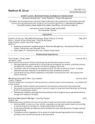 Business Development Objective Statement Resume Objective Statement Examples For Graduate School College