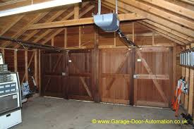 hinged barn doors. Barn Door Garage Doors   Side Hinged - A Portfolio Of Our Remote Controlled