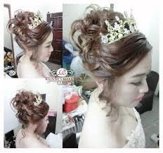 2016 bridal makeup and hairdo anese messy high bun rainne yap rainne