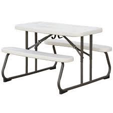280094 lifetime 3 foot kid s folding picnic table white