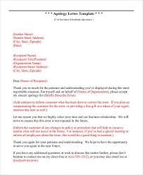Customer Service Apology Email Apology Letter Format Free Download