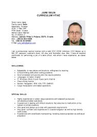 Gmdss Radio Operator Sample Resume Fascinating Jure Selin CV