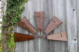 large rustic metal half windmill decorative wall art stunning wall rustic metal wall