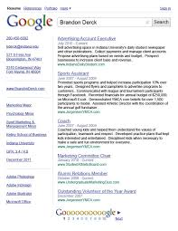 sample google resume