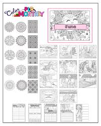Color Monthly Plr Private Label Rights Coloring Designs