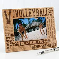 personalized volleyball picture frame 4x6 photo 2673