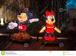 Mickey Christmas Lights Minnie And Mickey Mouse Christmas Lights Editorial Photo