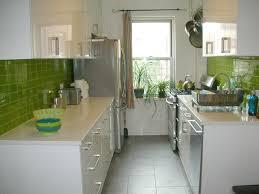 Green Tile Backsplash Kitchen Green Subway Tile Backsplash White Solid Countertop Bottom Freezer
