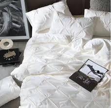silk luxury bedding. Wonderful Luxury 4Pieces Imitated Silk Luxury Bedding Set Beige Pinch Pleat Bed King  Queen For O