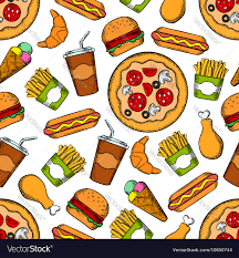 american food clipart. Perfect Clipart Fast Drinks Seamless Background Snacks Clipart American Food Banner  Library Download In American Food Clipart M