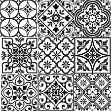 Black And White Pattern Tile Custom Bonne Ville Decorative Tile White On Black 448x 448