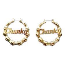 official bruno mars chunky script earrings