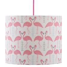 Flamingo Flourish Lamp Shade White Rosa Clara Designs