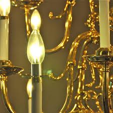 aluminum chandelier led light bulb clear torpedo aluminum