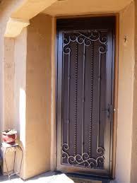 front storm doorsExterior Black Wrought Iron Storm Doors Home Depot For Exterior