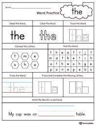 Worksheet Sight Word Printables Kindergarten Wosenly Free Words ...