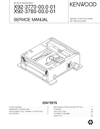 kenwood x92 3770 service manual schematics eeprom kenwood x92 3770 service manual