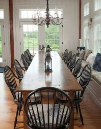 tim smith built the dining table from reclaimed wood love the black chairs cape cod life