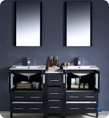 60 double sink bathroom vanities. Modern Double Sink Bathroom Vanity W One Side Cabinet Two Sinks Espresso  Vast 60 Inch Vanities