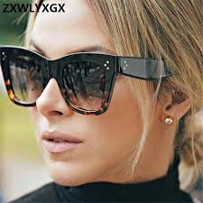 Luxury Rectangle sunglasses women <b>brand</b> design <b>retro</b> colorful ...
