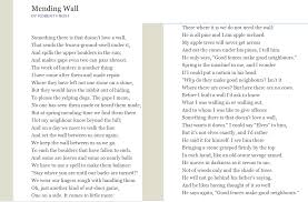mending wall by robert frost poems robert frost mending wall by robert frost