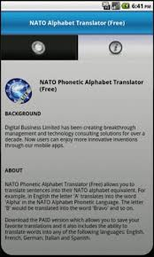 Discover the english alphabet and listen to the pronunciation of each letter. Amazon Com Nato Phonetic Alphabet Translator Free Appstore For Android