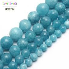 <b>Natural Stone</b> Beads <b>Blue Chalcedony Stone</b> Round Beads For ...