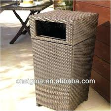patio garbage can outdoor wicker garbage can decorative trash cans outdoor patio inspirational outdoor wicker trash