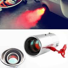 Universal Car Auto <b>Exhaust</b> Pipe <b>Muffler</b> Tip Spitfire Red <b>LED Light</b> ...