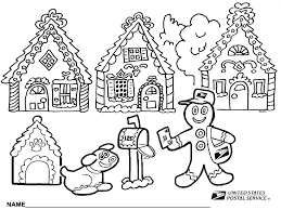 Gingerbread House Coloring Pages For Kids With Gingerbread House