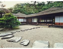 originated in japan these man made structures are designed with rocks sand trees