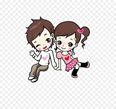 cartoon animation love drawing couple together cartoon cute couple png 800 830 free transpa png