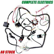 zongshen motorcycle parts quad wiring harness 250cc chinese complete electrics start loncin zongshen lifan