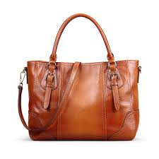Kattee Women's Vintage <b>Genuine Soft Leather</b> Shoulder Handbag ...