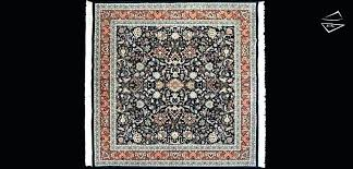 8a8 square area rugs handmade square area rug in black with brown 8 x 8 square