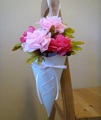 How To Make Paper Cones For Flower Petals Ido It Myself Wedding Diy Ribbon Laced Paper Cones