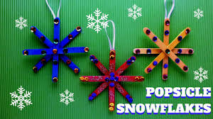 Christmas Craft Christmas Craft Popsicle Stick Snowflake Popsicle Stick Craft